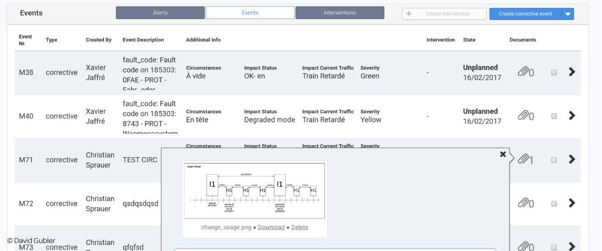 Railnova software Railfleet maintenance