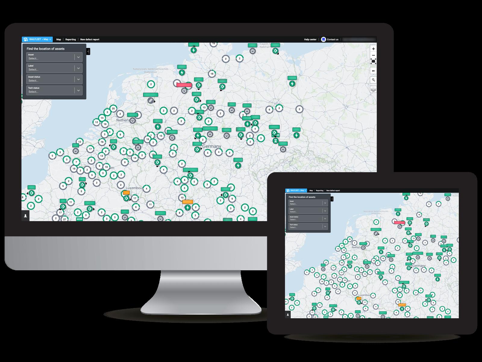 Railfleet map GPS history